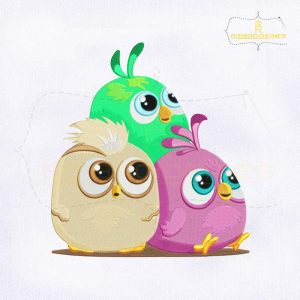 Baby Angry Birds Hatchling Embroidery Design