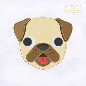 Puppy Face Emoji Embroidery Design