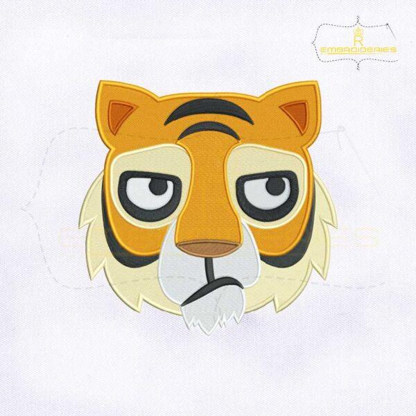 Tiger Face Emoji Embroidery Design