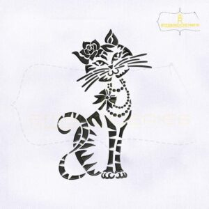 Silhouette Black Cat Embroidery Design