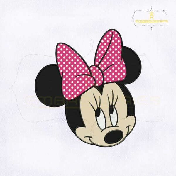 Minnie Face Embroidery Design