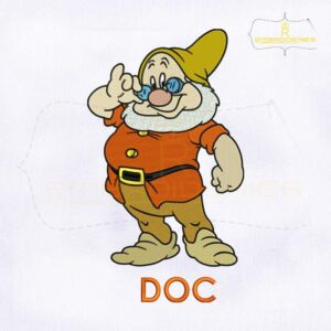 Disney Seven Dwarf Doc Embroidery Design