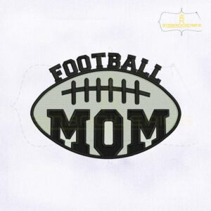 Silhouette American Football Mom Embroidery Design