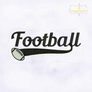 Football Logo Machine Embroidery Design