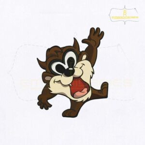 Looney Tunes Baby Tasmanian Taz Embroidery Design