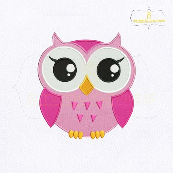 Big Eyes Baby Owl Embroidery Design