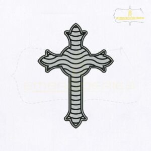 Christian Cross Religious Embroidery Design