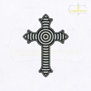 Christian Cross Machine Embroidery Design