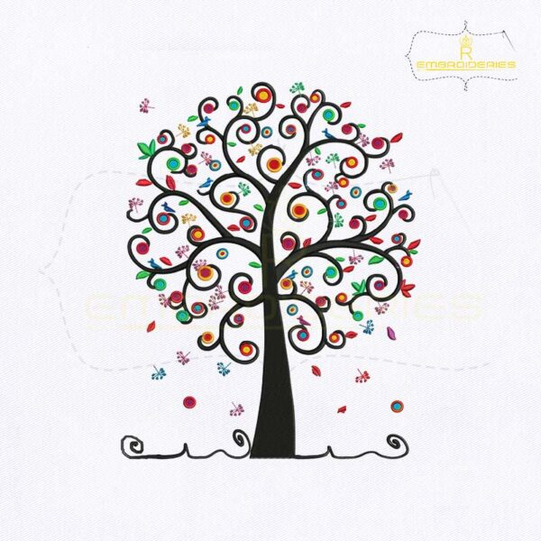Social Work Tree Embroidery Design