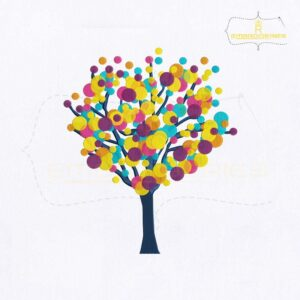 Artistic Tree Embroidery Design | Tree Embroidery