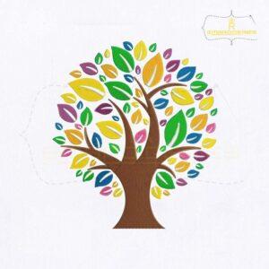 Eco Tree Machine Embroidery Design