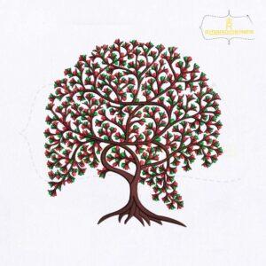 Judaism Tree Machine Embroidery Design