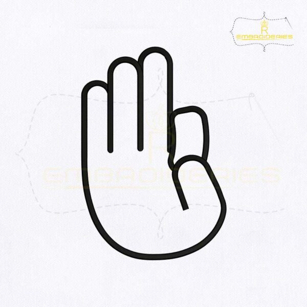 Deaf And Dumb Sign Language F Embroidery Design