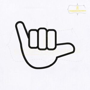 Dumb Sign Language Y Embroidery Design