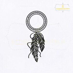 Silhouette Dream Catcher Embroidery Design