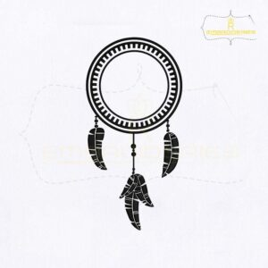 Dangling Dream Catcher Embroidery Design