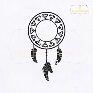 Creative Dream Catcher Embroidery Design