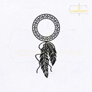 Monogram Dream Catcher Embroidery Design