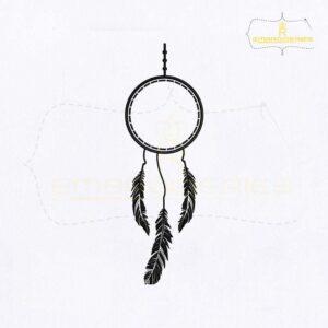 Outline Monogram Dream Catcher Embroidery Design