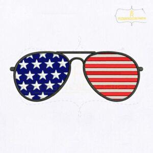 USA Merica Sunglasses Embroidery Design