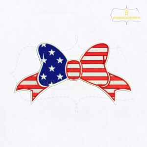 Happy 4th of July Bow Embroidery Design