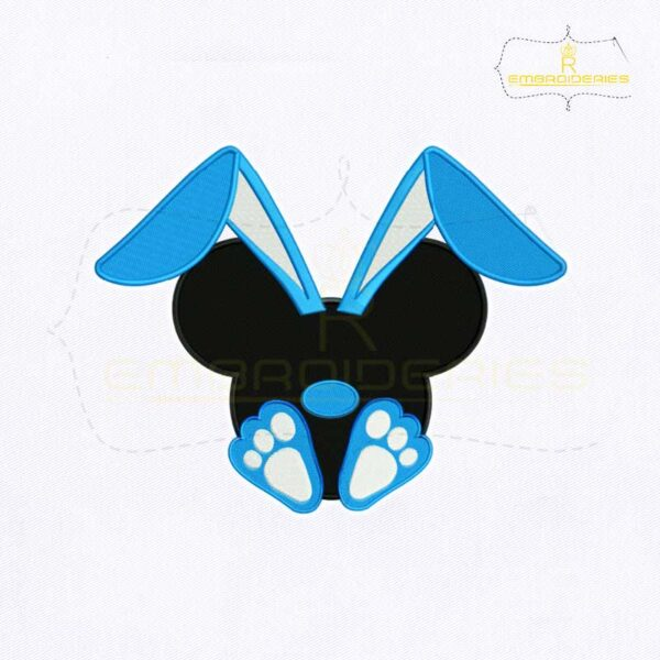 Bunny Ear Mickey Mouse Embroidery Design