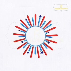 American Fireworks Embroidery Design