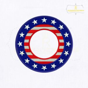 USA Circle Monogram Embroidery Design
