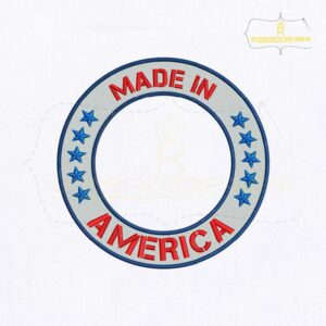 Made In America Monogram Embroidery Design