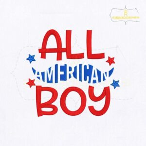 All American Boy Embroidery Design