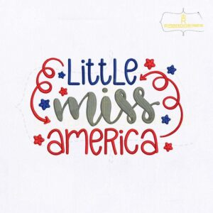 Little Miss America Embroidery Design