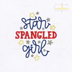 Star Spangled Girl Embroidery Design