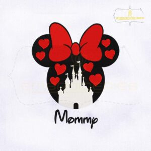 Mommy Disney Castle Minnie Mouse Embroidery Design