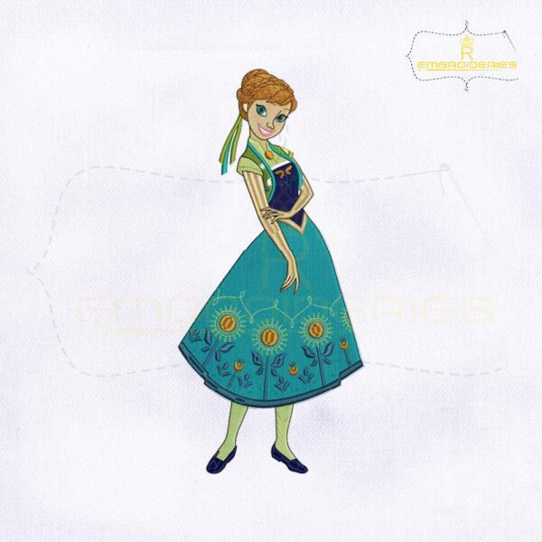 Frozen Fever Princess Anna Machine Embroidery Design