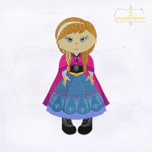 Frozen Minus Baby Anna Embroidery Design