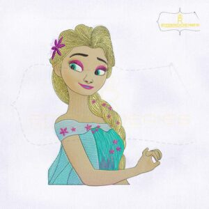 Frozen Fever Elsa Machine Embroidery Design