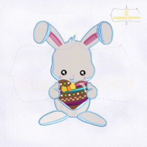 10781-09 Holding Heart Bunny Machine Embroidery Design