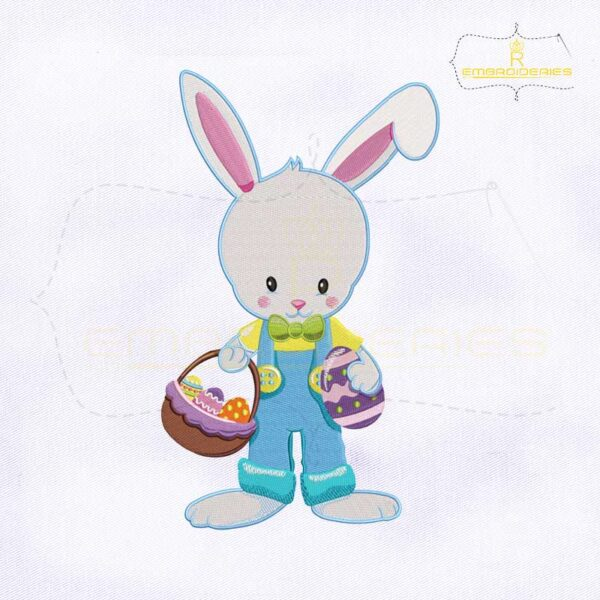 Holding Eggs Basket Bugs Bunny Embroidery Design
