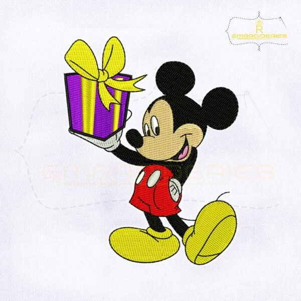 Valentine's Day Gift Mickey Embroidery Design