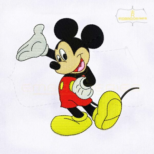 Happy and Cool Mickey Mouse Machine Embroidery Design