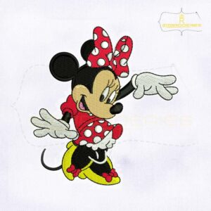 Lovely And Cute Minnie Mouse Embroidery Design