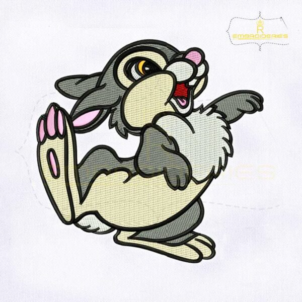 Foot Thumping Bambi Movie Thumper Embroidery Design