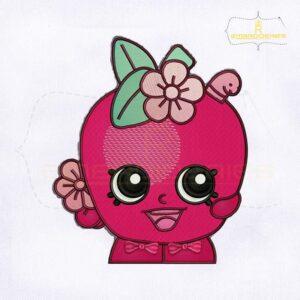 Beautiful Shopkins Apple Blossom Embroidery Design
