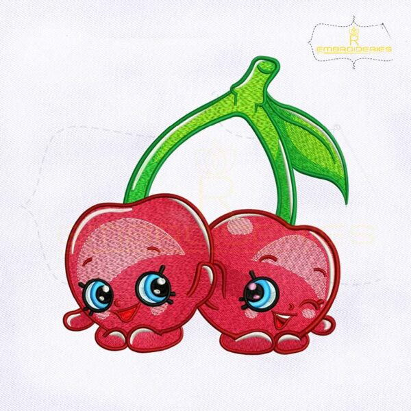 Shopkins Cheeky Cherries Embroidery Design