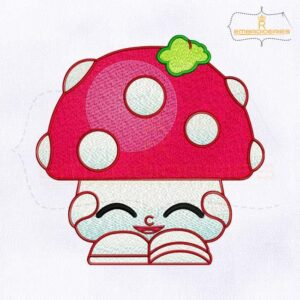 Shopkins Miss Mushy Moo Embroidery Design