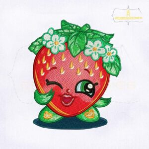 Shopkins Strawberry Kiss Embroidery Design