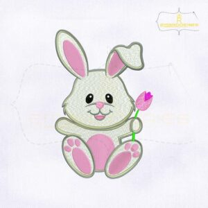 Cute and Lovely Bunny Embroidery Design