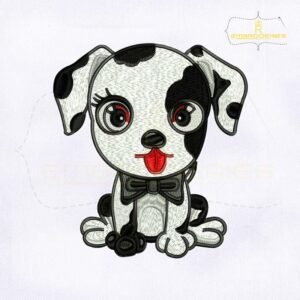 Colorful Cute Baby Dalmatians Embroidery Design