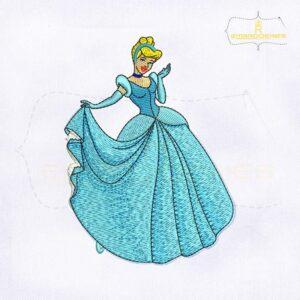 Beautiful Princess Cinderella Embroidery Design