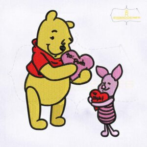 Beautifully Digitize Pooh And Piglet Embroidery Design